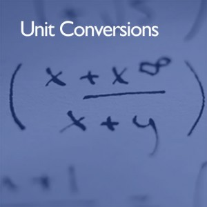Unit conversions at i2 analytical